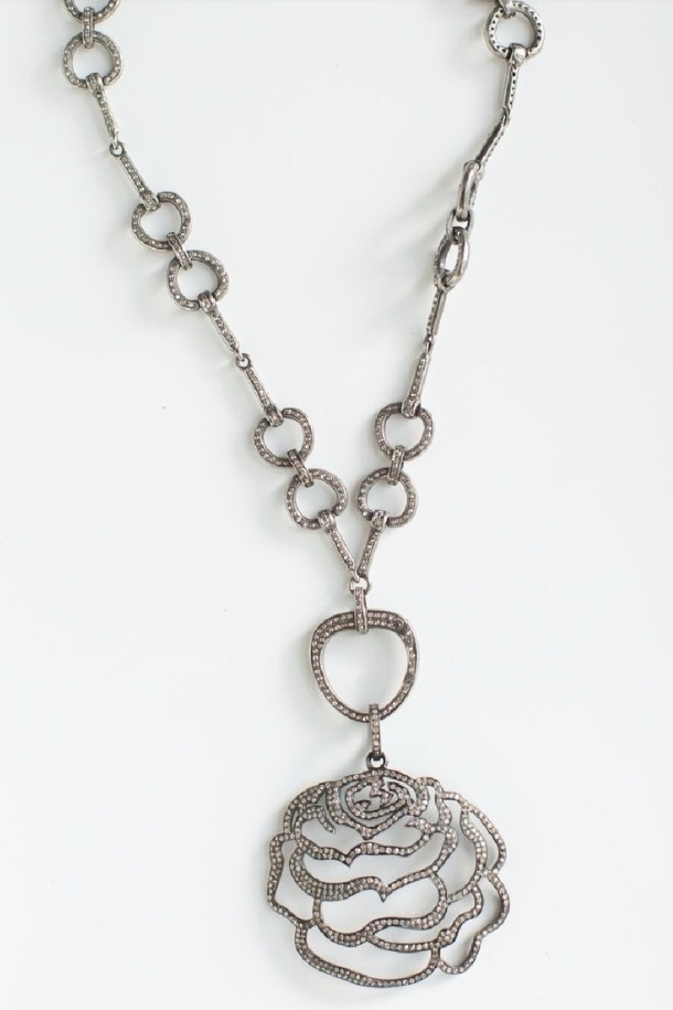 The Woods Fine Jewelry Pave Rose Jewelry