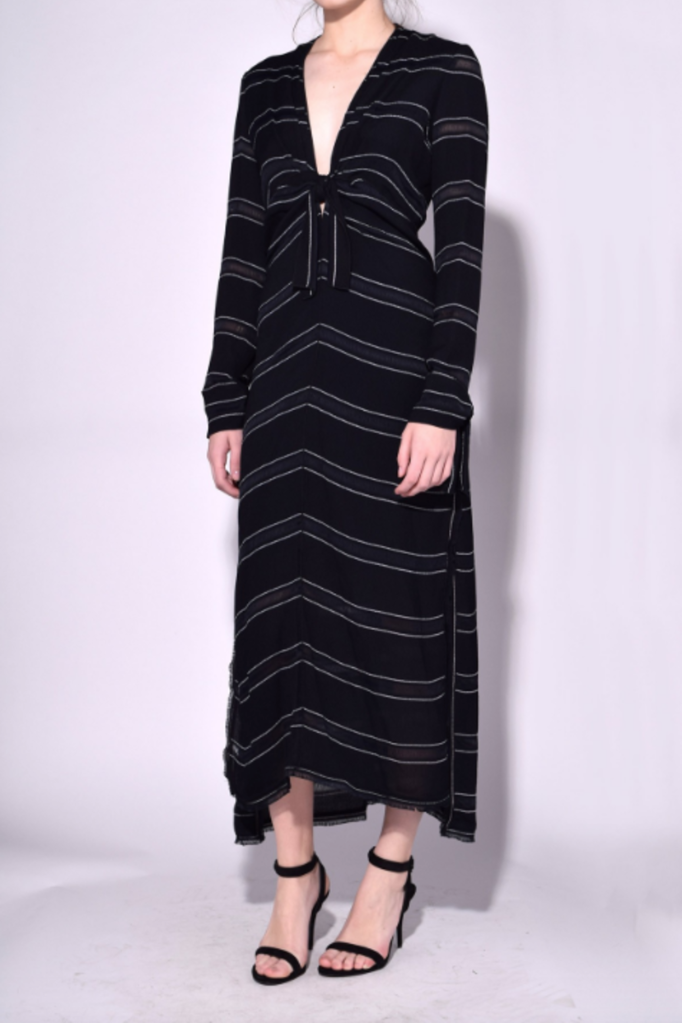 Proenza Schouler Dress with Knot in Black/White Stripe Dresses