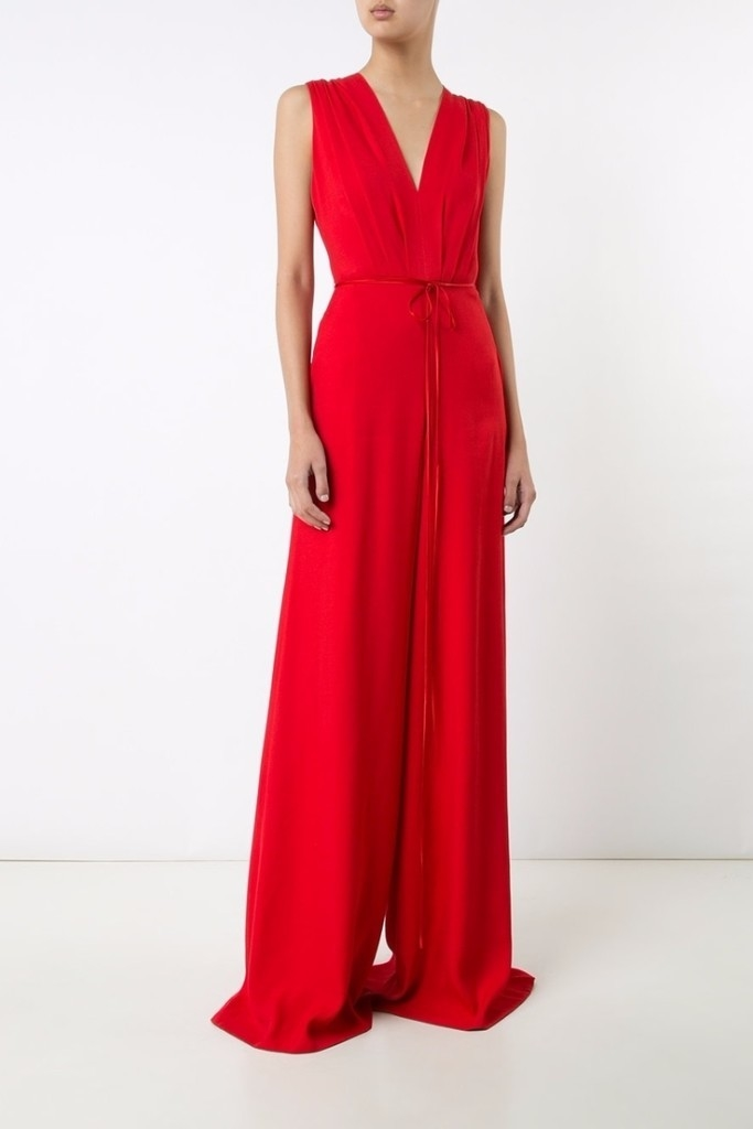 Adam Lippes V-Neck Wide-Leg Jumpsuit Jumpsuits / Rompers