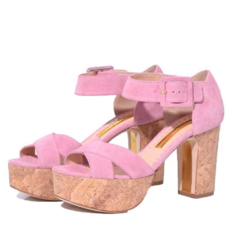 Rupert Sanderson Haitana Sandal in Bubble Gum Shoes Tops