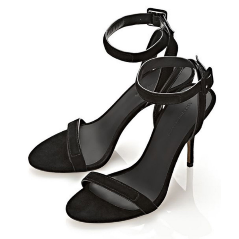 Alexander Wang Antonia Black Suede Sandal Shoes