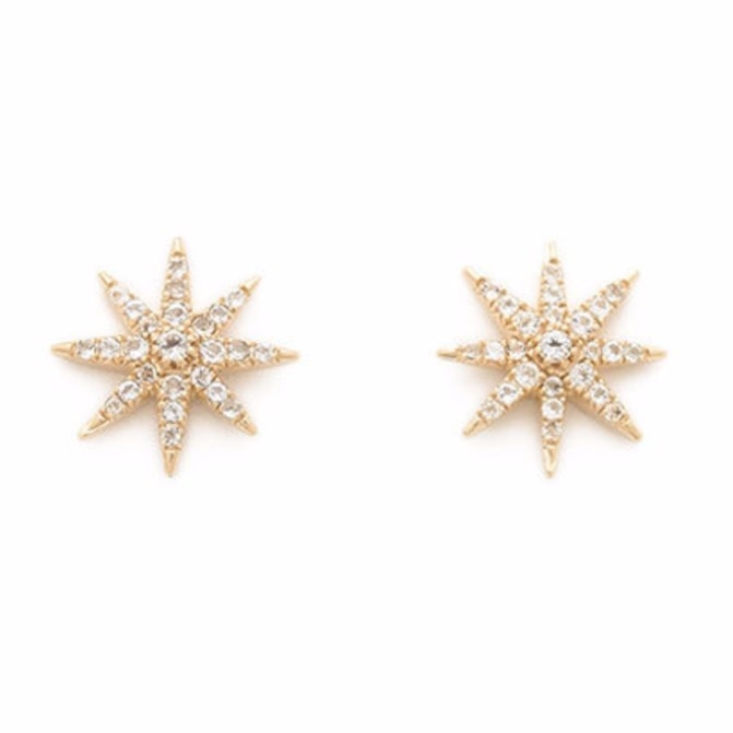 Elizabeth and James Rose Studs Jewelry