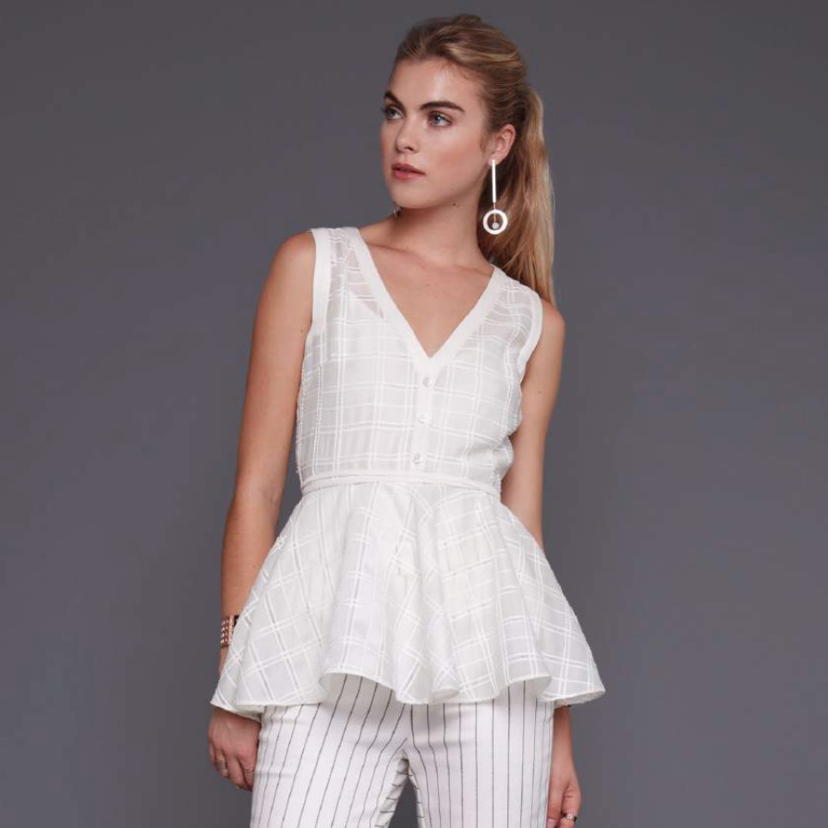 Wai Ming Leritz White Blouse Sale Tops