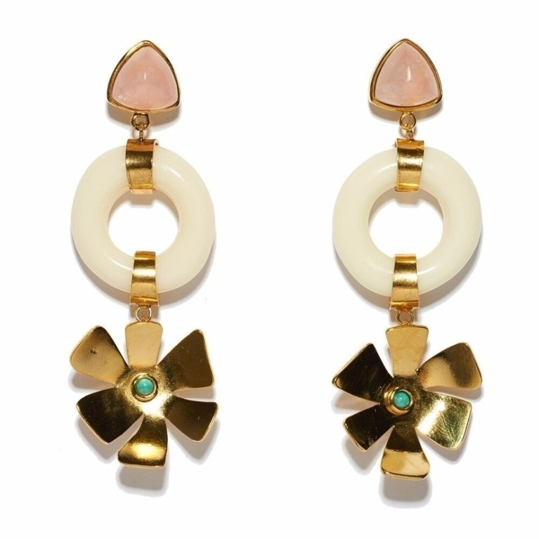 Lizzie Fortunato Lotus Earrings Jewelry