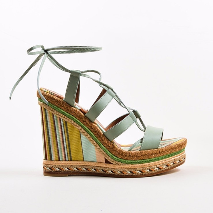Valentino Valentino Lace Up Espadrille Wedge