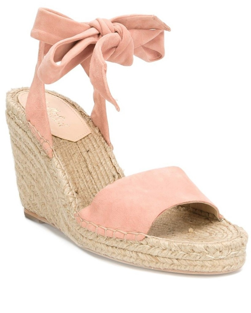 Loeffler Randall Melon Harper Ankle Strap Wedge Espadrille Shoes