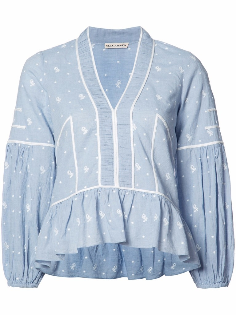 Ulla Johnson Balloon Sleeve Top Tops