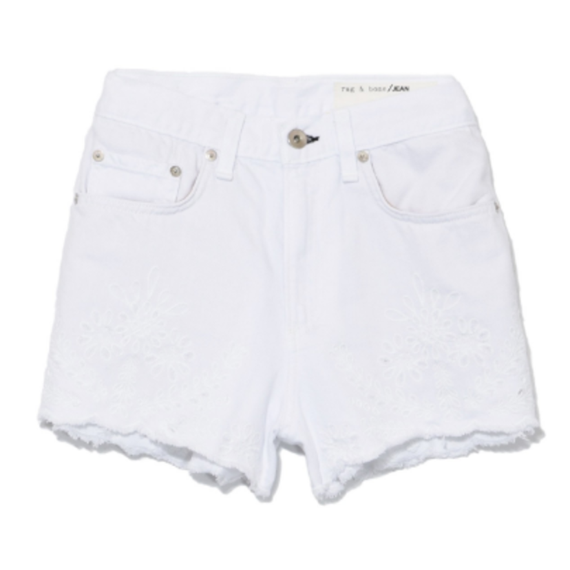 rag & bone Justine Short in White Embroidery Shorts