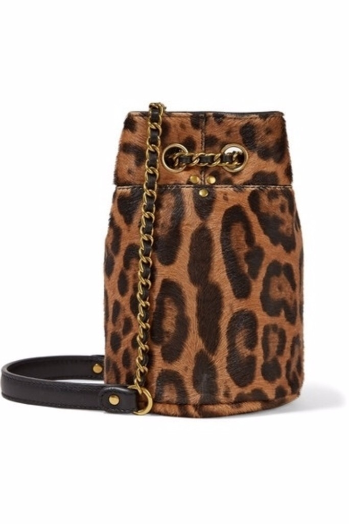 Jerome Dreyfuss Popeye Mini Bucket Bag in Leopard Bags
