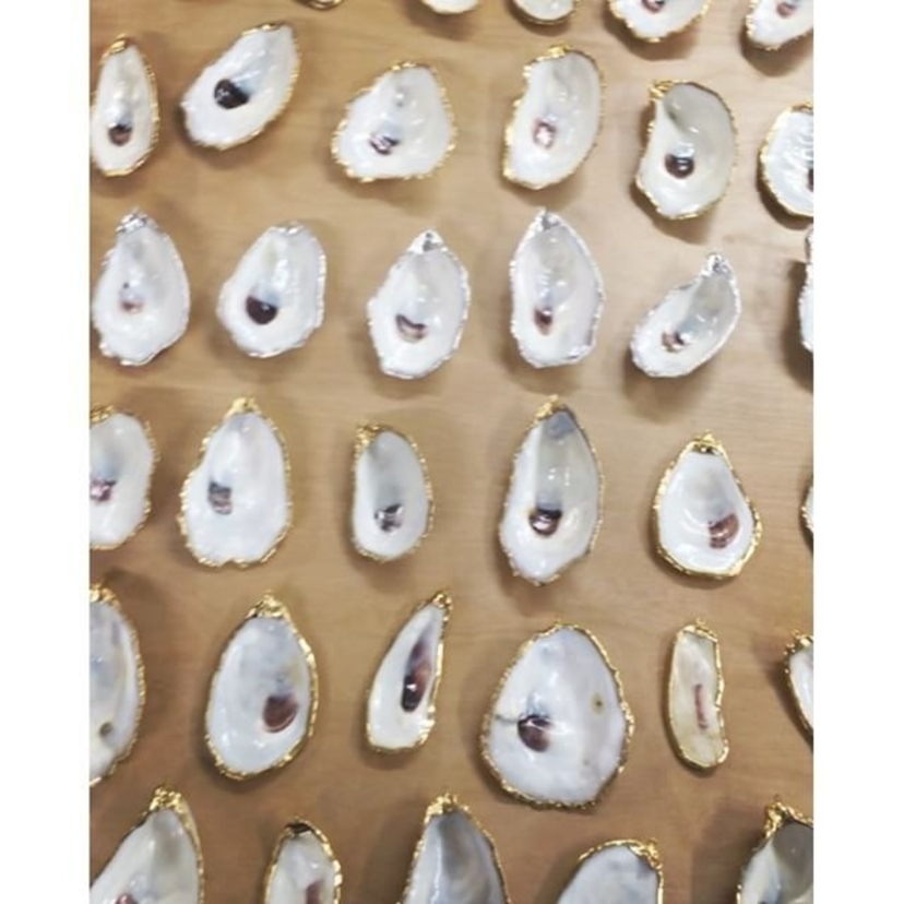 So many new oyster pieces in the works for @madesouth !! Come see us in Taylors, SC this weekend