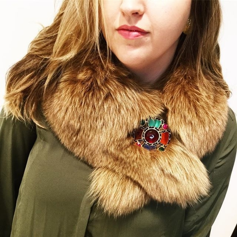 The perfect brooch for fall @chanelofficial vintage gripoix brooch paired with this lovely fox fur stole! Now at TBC Dallas  #vintage #Chanel #chanelbrooch  #furfashion #luxuryconsignment #streetstyle #vintagestyle #mfw2016 #dallasstyle #runwayready