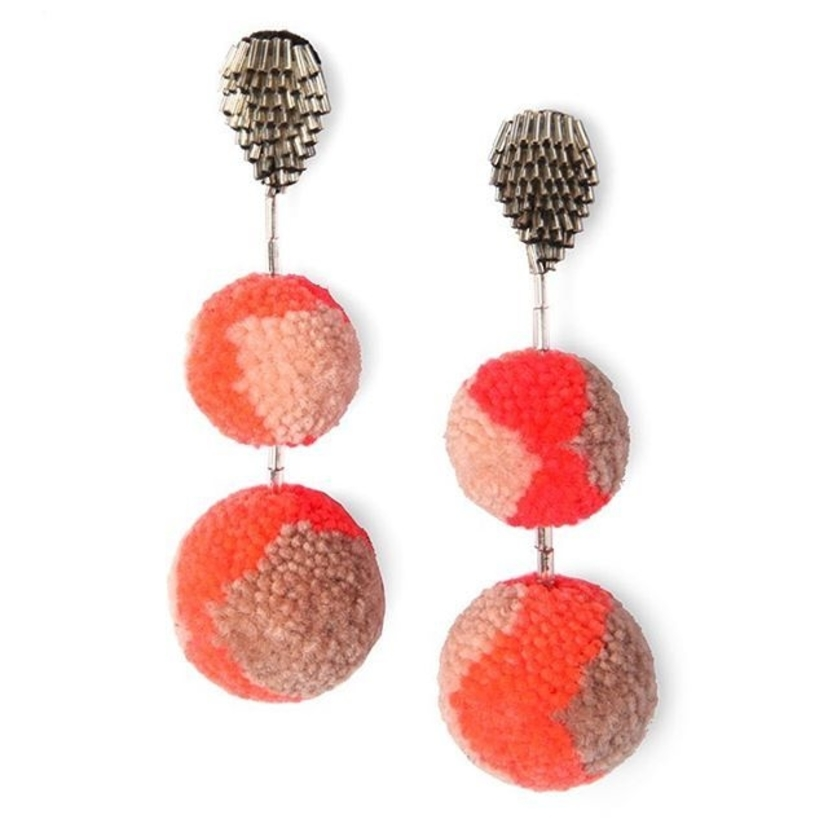 Now available!  Our super light Double Pom Pom earring for Resort just dropped!