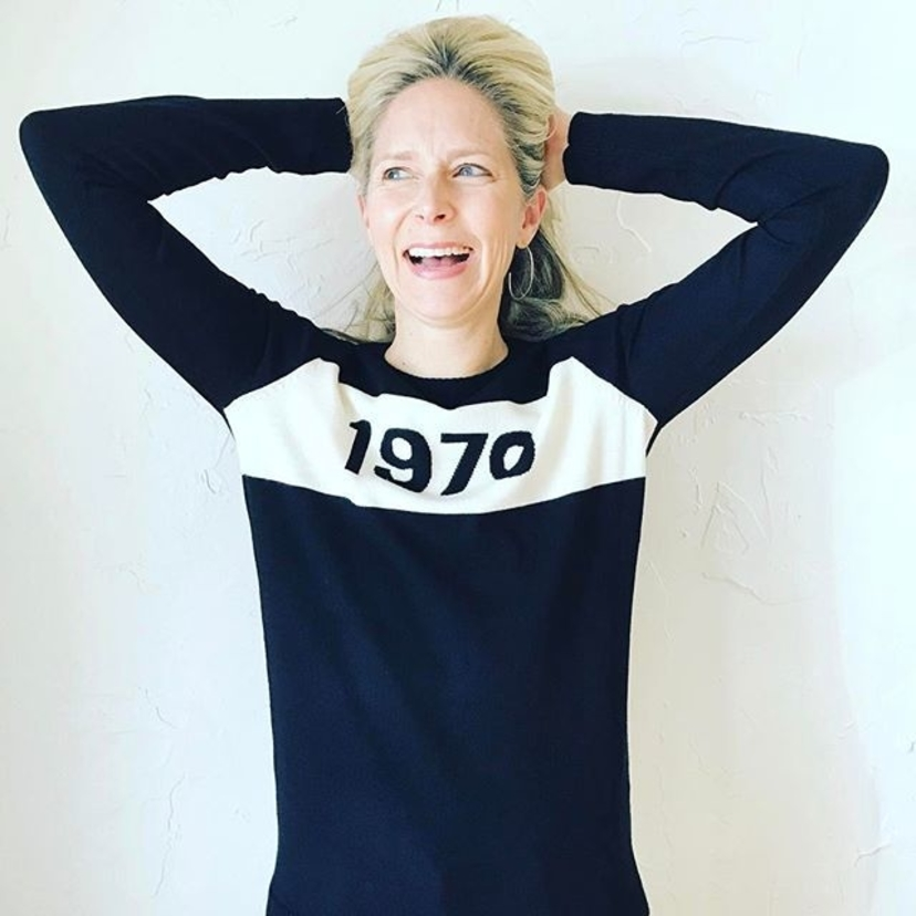 Why 1970?? It's the year @bella_freud was born and what makes this sweater an insider's dream. #intheknow #coolgirls #londonchic #shopgretta #shopokc #oklahomaboutiques #shoplocal @nicholshillsplaza