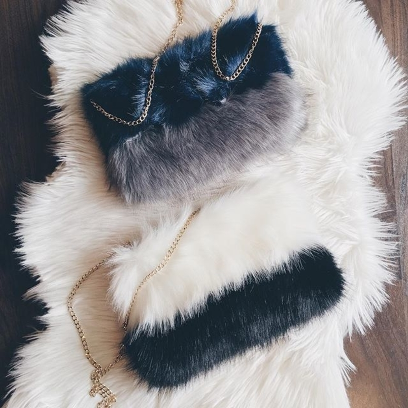 Furrrrr real, these faux fur clutches are FABULOUS! || ||