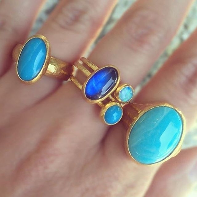 Feeling blue? These #gurhan rings are part of our WINTER SALE and hopefully that will cheer you up!