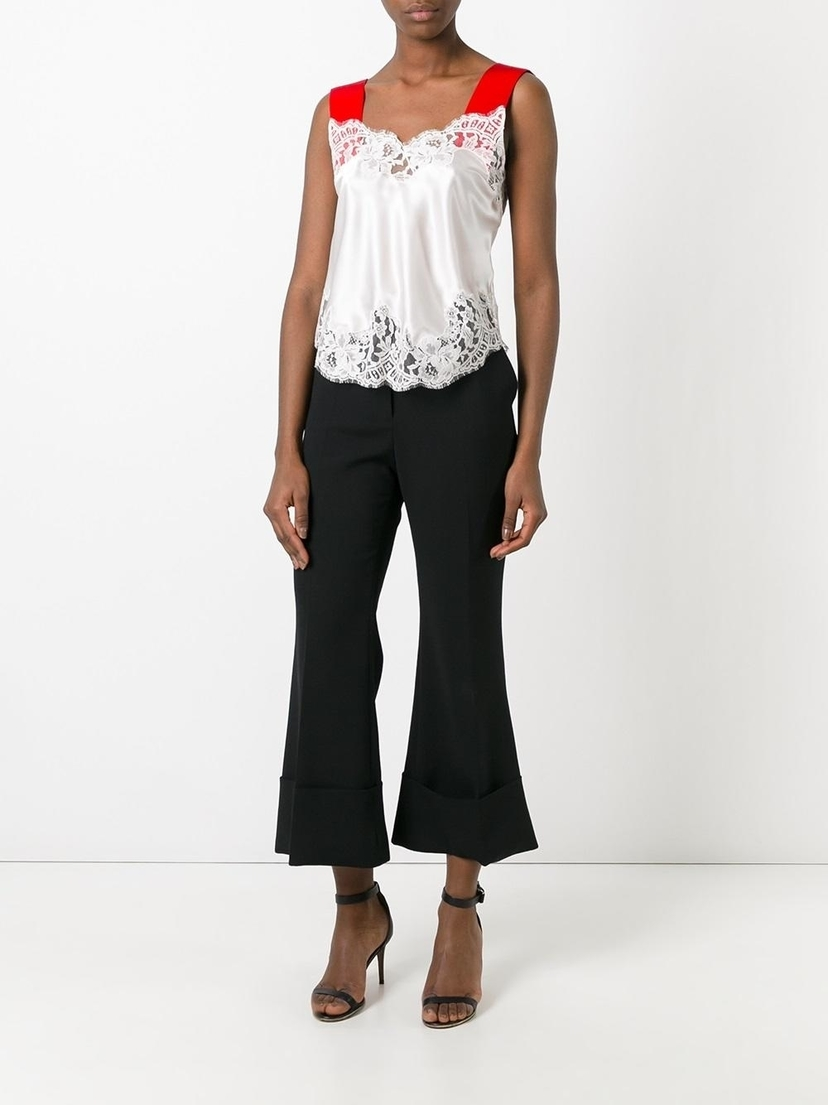 Givenchy Contrast Strap Lace Camisole Tops