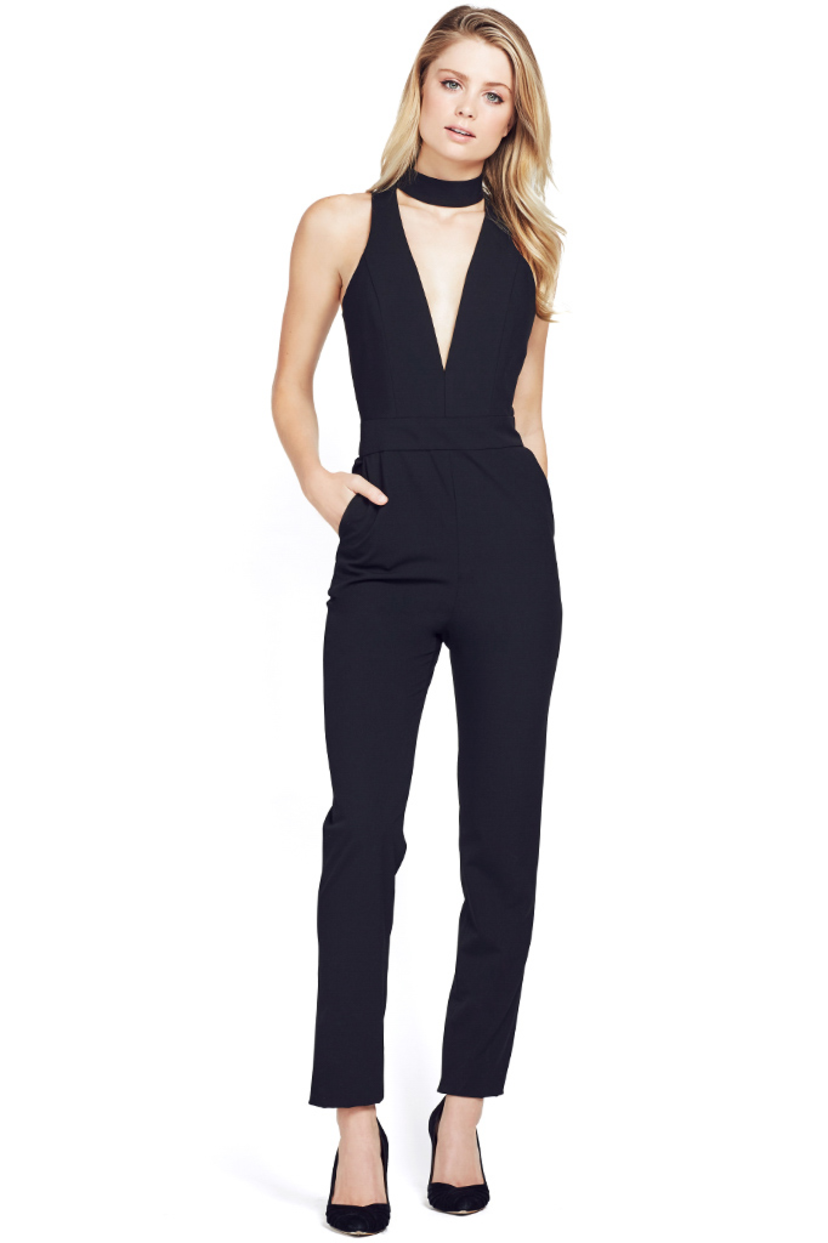 Mason by Michelle Mason Choker Plunge Jumpsuit Jumpsuits / Rompers Sale