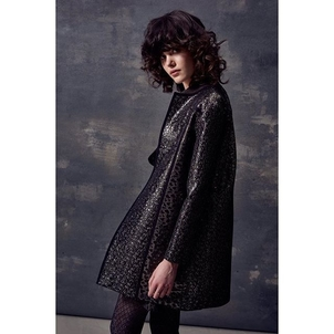 #AUDRA #FW17 brocade coat with trompe l'oeil outlines