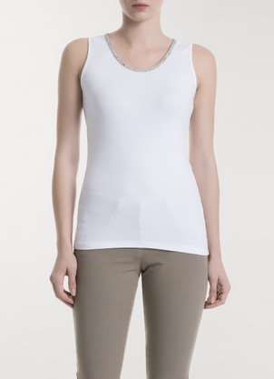 Fabiana Filippi Ribbed Cotton Tank Tops