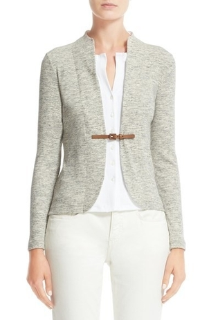Fabiana Filippi Grey Layered Cardigan Tops