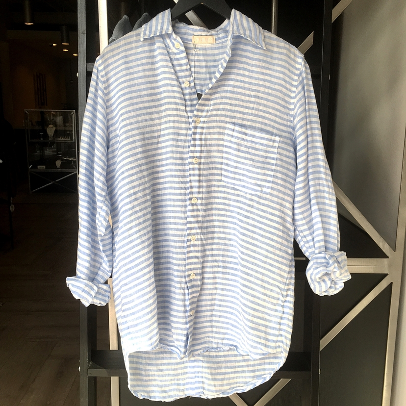 CP Shades Striped Boyfriend Top