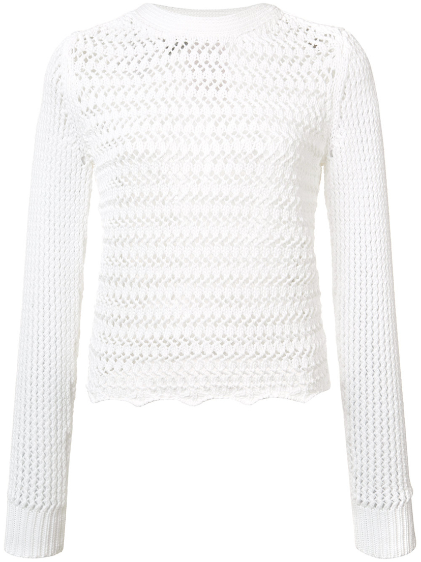 3.1 Phillip Lim Crochet Sweater Tops