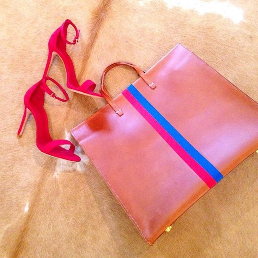 Clare V. Schutz Red, Saddle & Blue Bags Shoes