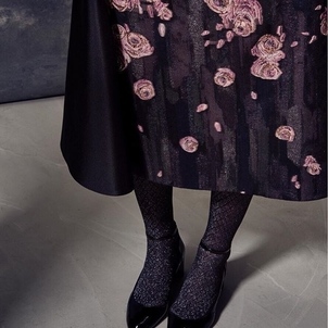All in the details... our brushstroke jacquard overlaid with rose embroidered gazar
