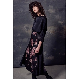 Silk cuffed blouson and patchwork flare skirt   a personal fav of mine from