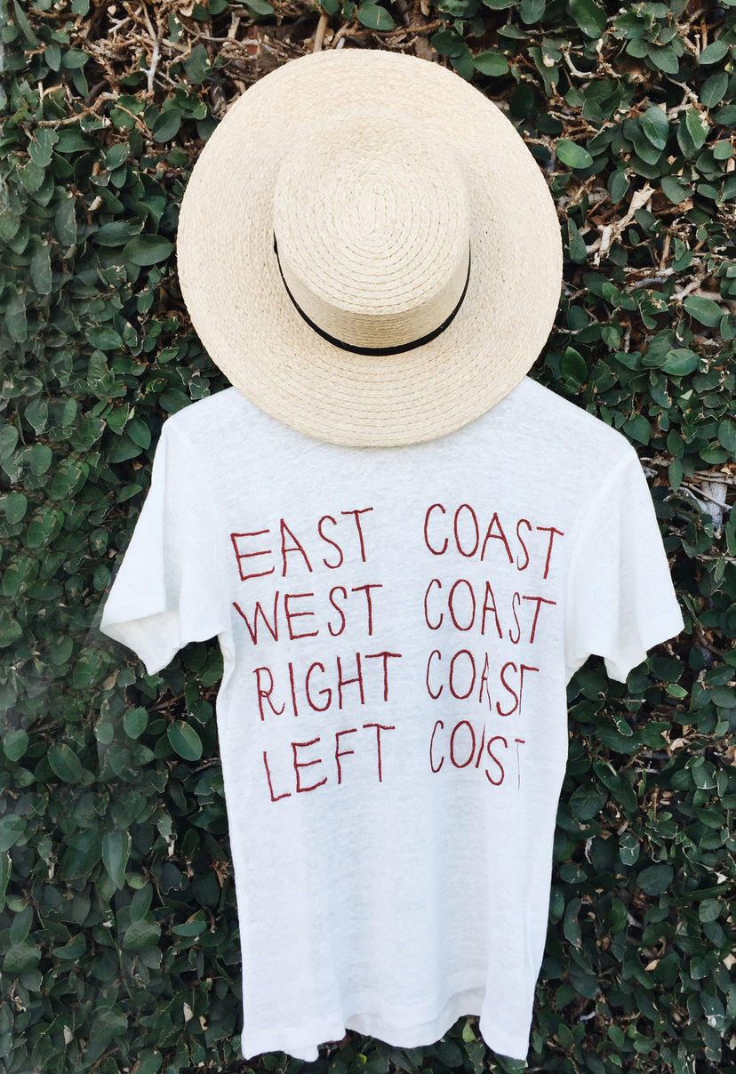 Banner Day the lady  & the sailor Banner Day East Coast West COast T-Shirt Swimwear Tops