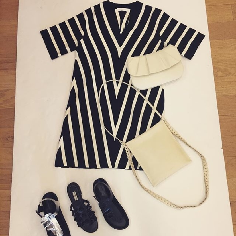 Balenciaga Chloé The Row Black and white, day or night. Bags Dresses Shoes