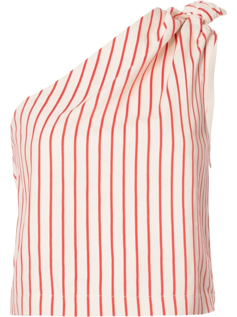 Rosie Assoulin One Shoulder Knot Blouse Tops