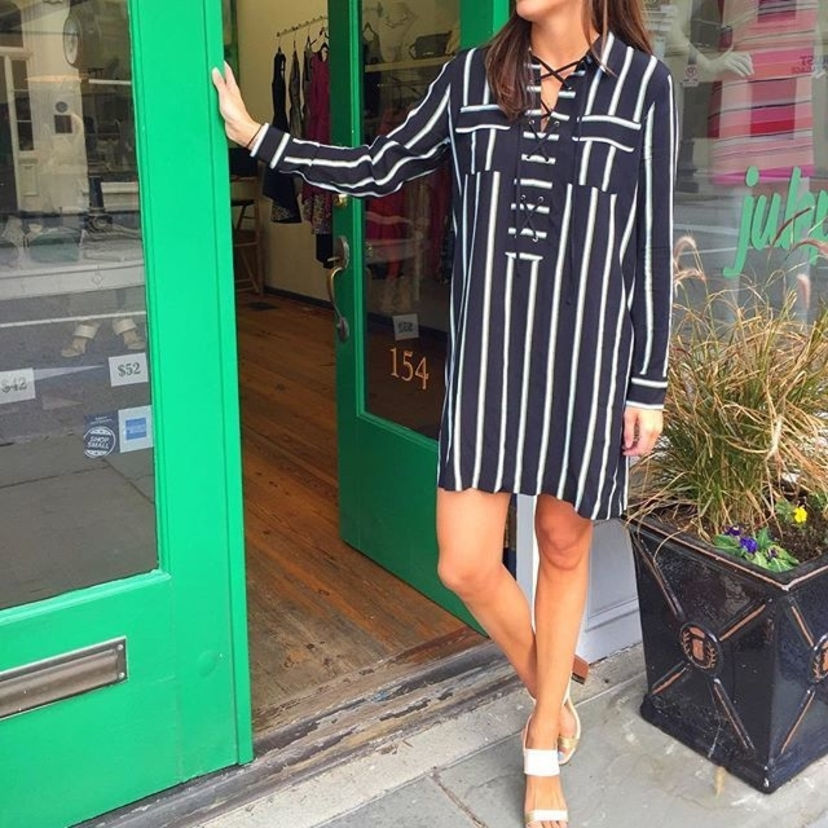 Lace up striped shift dress, great transition piece into Spring!! $119Call or message us to reserve your size in these fab sandals, ONLY $52!