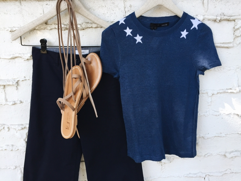 360 CASHMERE Closed Denim K. Jacques the lady  & the sailor Mili Top & Ellada Sandals Accessories Swimwear Tops