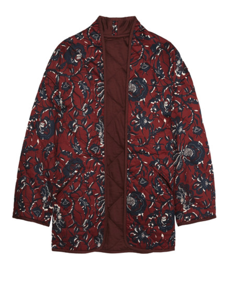 Floral-Quilted Jacket