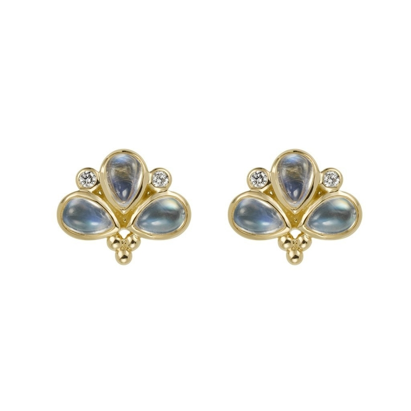 Temple St. Clair Moonstone Fan Studs Jewelry