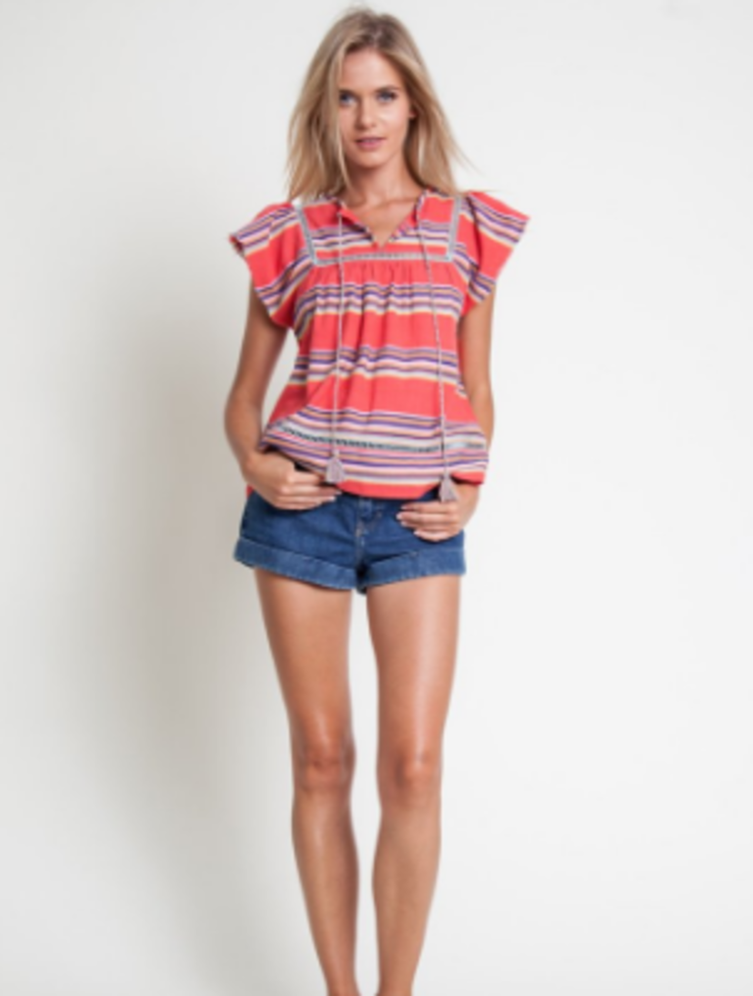 Stripes with Ladder Lace inserts