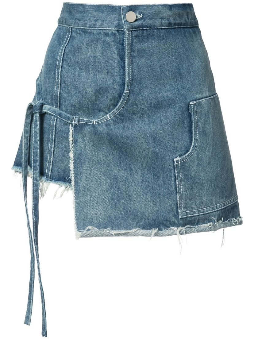 Mini Denim Wrap Skort