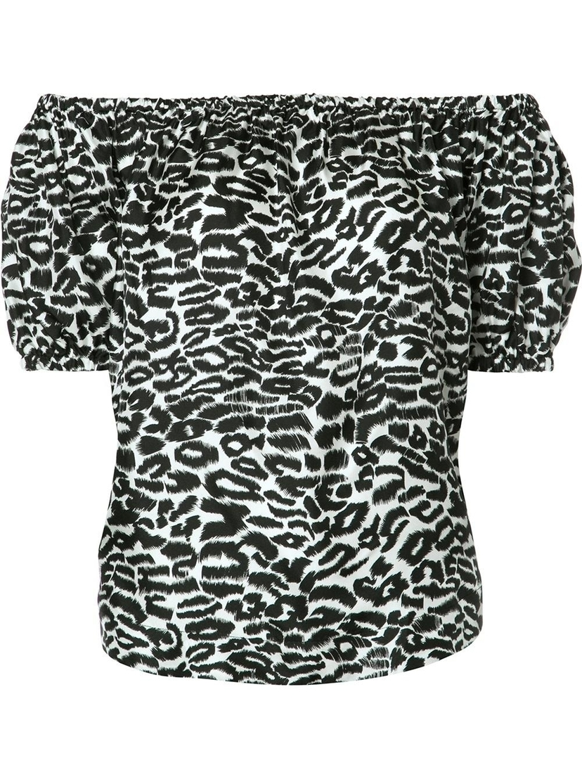 Rosie Off Shoulder Top - Leopard