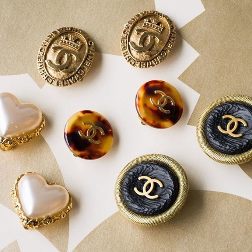 Vintage Chanel Gold Tone Metal Clip On Earrings. Email Diana@luxurygaragesale.com for pricing and information.