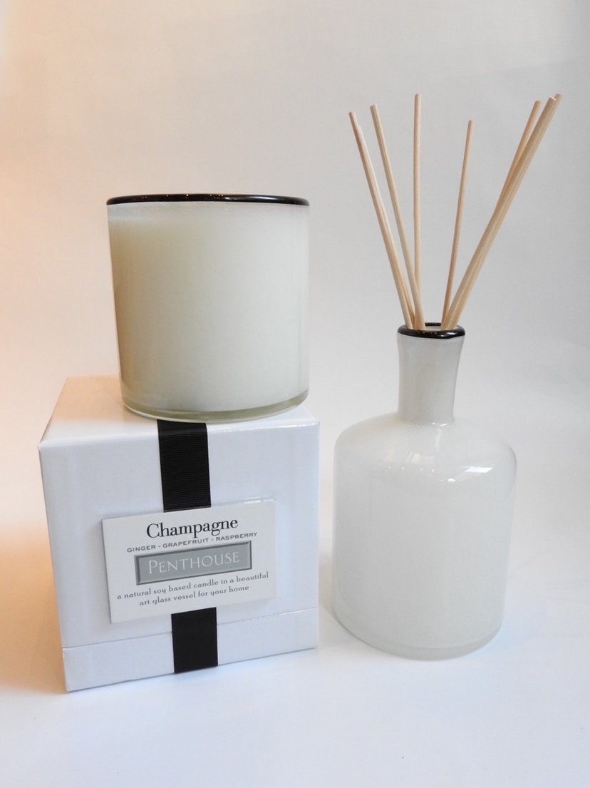 Champagne Penthouse Candle and Diffuser