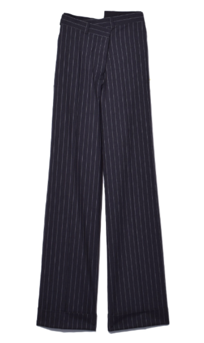 Monse Pinstripe Pant in Grey/White Pants Sale