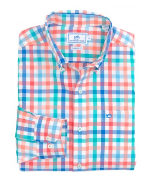 Southern Tide Rocky Point Plaid Sport Shirt Tops