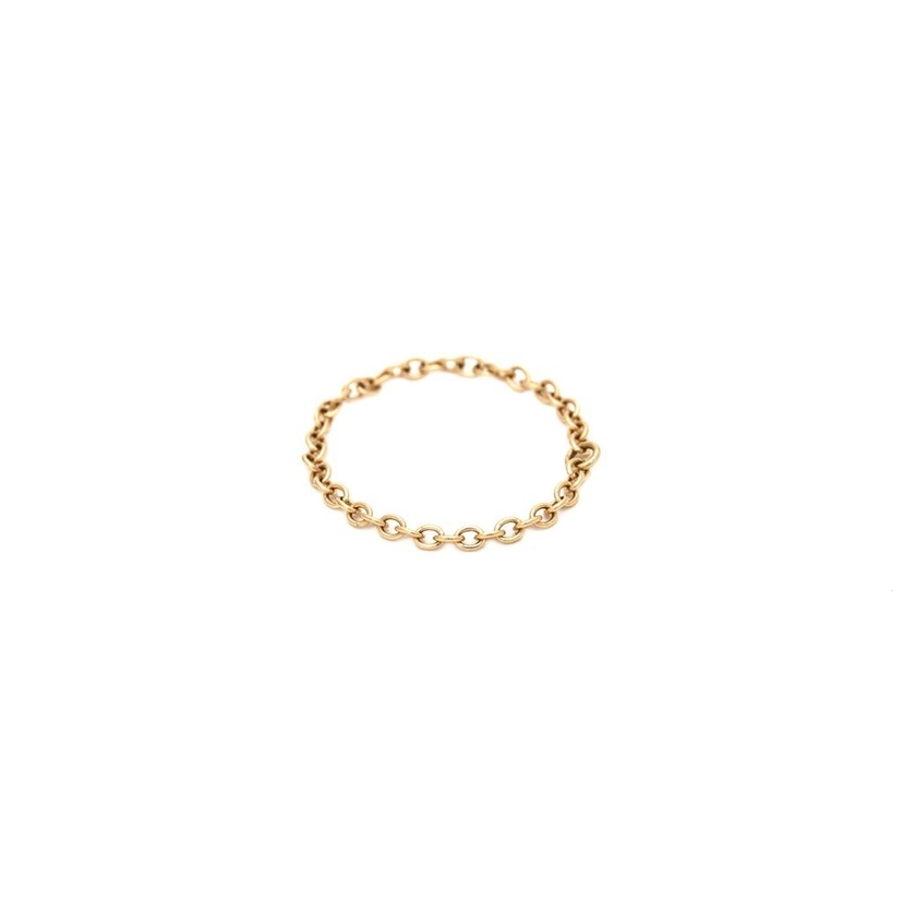 Brooke Corson Dainty Gold Chain Ring Jewelry