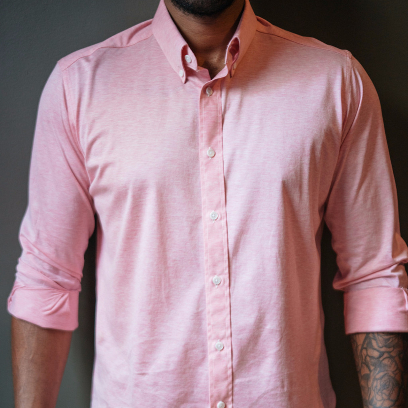 Ole Mason Jar PINK STRETCH MELANGE Men's