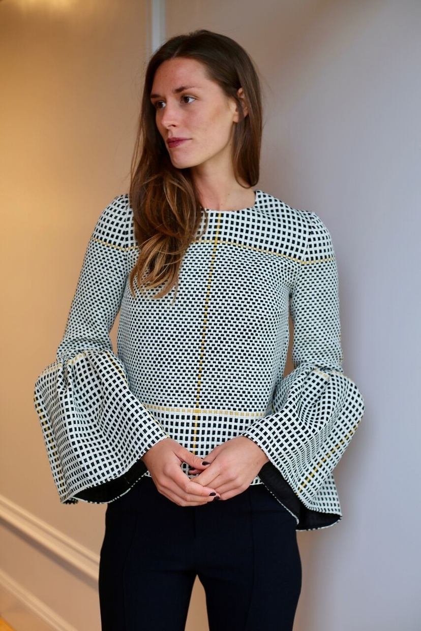 Roksanda Basketweave Truffaut Top Tops