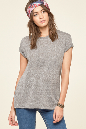 Tanner Solid Tee Heather Grey