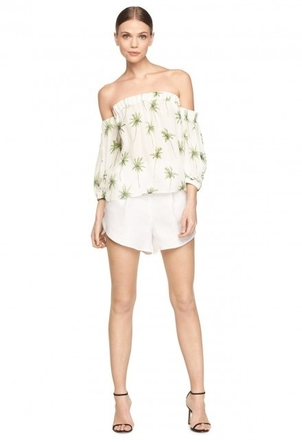 Milly Palm Tree Off The Shoulder Tops