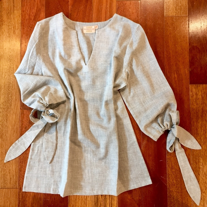 Rungolee Tied Up Linen Avery Blouse SOLD OUT Sale Tops