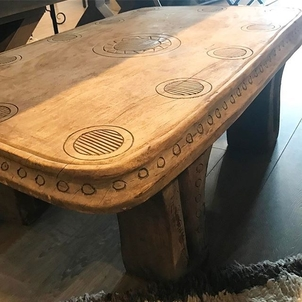 And... the side view of our new favorite African carved coffee table.